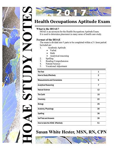 Health Occupations Aptitude Exam Study Notes (HOAE Study