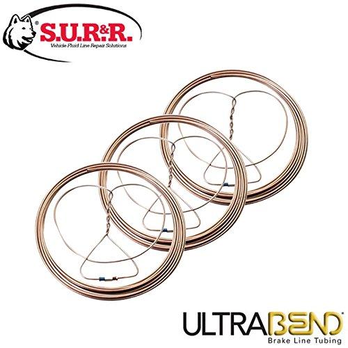 S.U.R.&R BR-EZ100 Brake Line Tubing (Pack of 3)