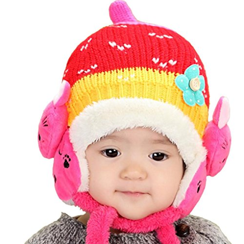 Baby Earflap Cap, Franterd Toddler Girl Boy Kids Knitted for sale  Delivered anywhere in USA