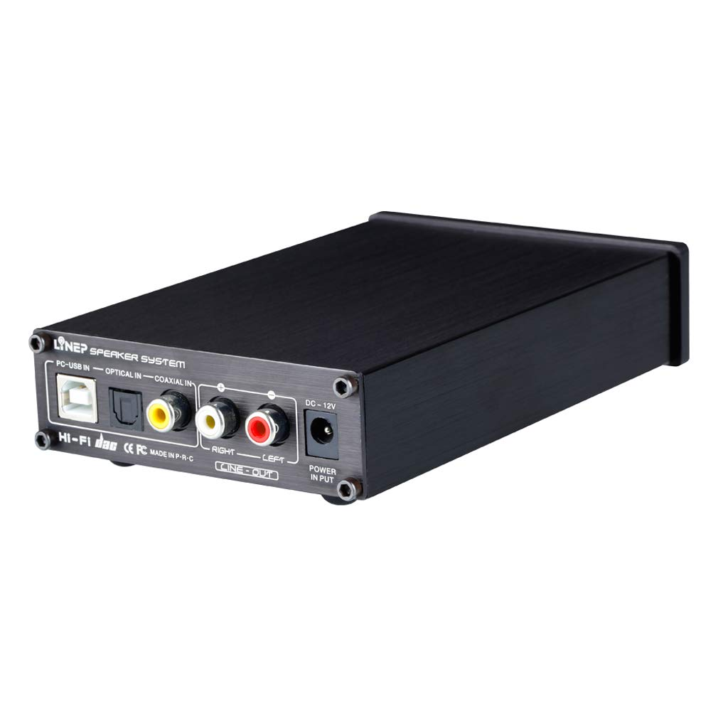 perfk A936 HiFi Fibra Coaxial USB AMP Decodificador de Audio Digital DAC, Negro: Amazon.es: Electrónica