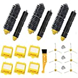 Theresa Hay Replacement 6x HEPA Filter + Side Brush Kit +3 Bristle and Flexible Beater Brush for iRobot Roomba 700 Series 770 780 790