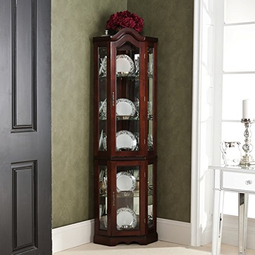 McCoy Mahogany Lighted Display Custom Cabinet by McCoy by Harper Blvd