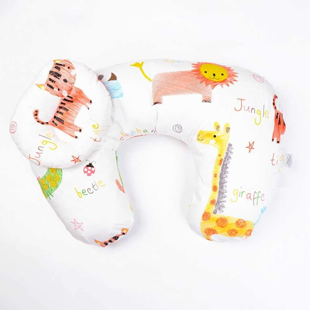 Breastfeeding Pillow Positioner Multi-Functional Breathable Baby Nursing Support Cushion Pregnancy Back U Shape Feeding Cotton Cove Slip Cover Newborn for Lying Or Sitting Learning Multifunctional