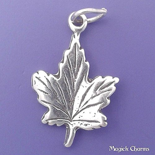 (925 Sterling Silver Maple Leaf Charm Jewelry Making Supply, Pendant, Charms, Bracelet, DIY Crafting by Wholesale Charms )