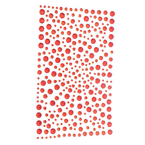 Red Self Adhesive - Decora 325 Red Diamante Stick on Rhinestone Stickers Gems Cards and Self Adhesive Craft Bling