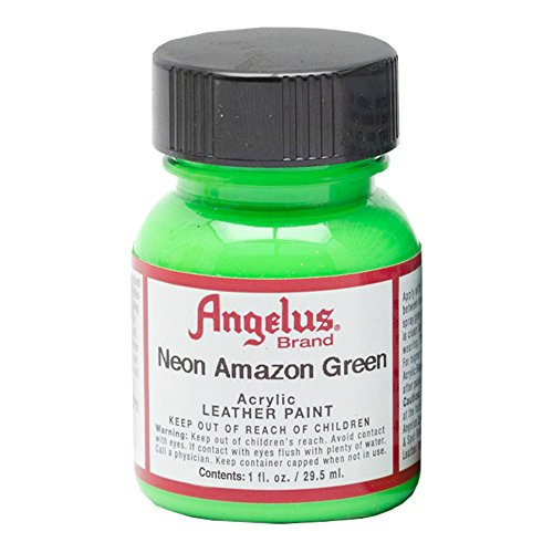 Angelus Leather Paint 1 Oz Neon Amazon Green