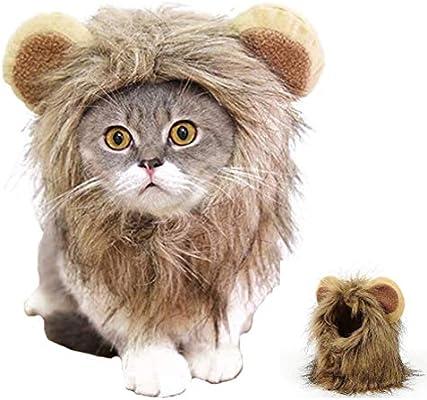 HAMISS - Peluca de Melena de león para Gato, Perro, Halloween ...