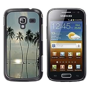 TopCaseStore / la caja del caucho duro de la cubierta de protección de la piel - Sea Summer Sun Surf Miami - Samsung Galaxy Ace 2 I8160 Ace II X S7560M