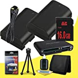 Two Canon EOS 70D DSLR Camera with 18-55mm STM f/3.5-5.6 Lens LP-E6 Lithium Ion Replacement Battery + 16GB SDHC Class 10 Memory Card + Mini HDMI Cable + Multi Card USB Reader + Memory Card Wallet + Deluxe Starter Kit  DavisMAX Accessory Bundle