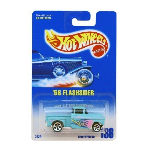 56 Flashsider Hot Wheels #136 1991 Silver 5 Dot Wheels Blue/white Card (5 Dot Wheels)