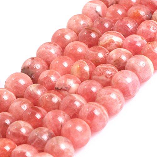 Argentina Rhodochrosite Beads for Jewelry Making Natural Gemstone Semi Precious 5mm Round AAA Grade Pink 15