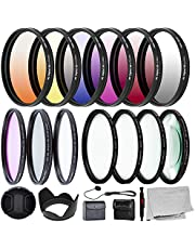 Ultimaxx 67MM Complete Lens Filter Accessory Kit for Lenses with 67MM Filter Size: 6PC Gradual Color Filter Set + UV CPL FLD Filter Set + Macro Close Up Set (+1 +2 +4 +10)