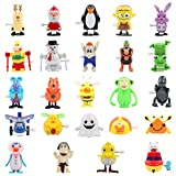 FUNNISM 24 Pieces Assorted Wind Up Toys Kids Party Favors Children's Birthdays Gifts