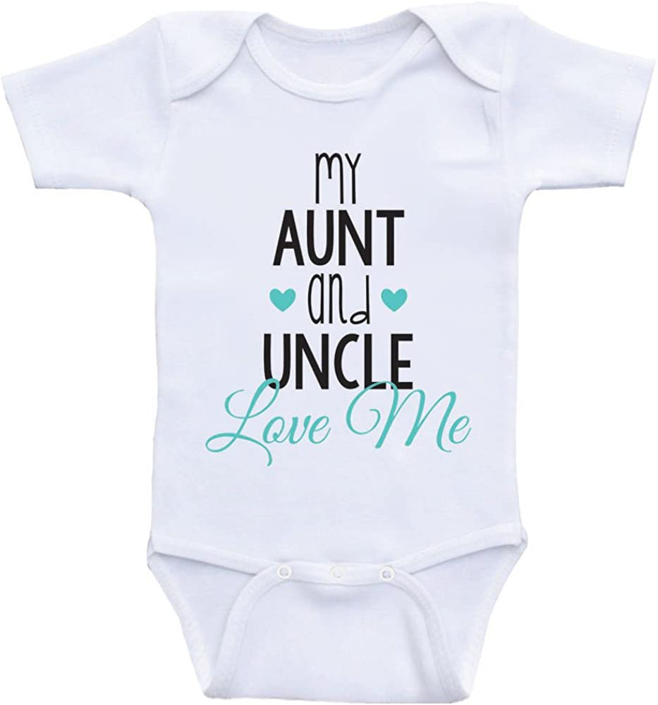 Heart Co Designs Cute Baby One Piece My Aunt Uncle Love Me Newborn Baby Clothes