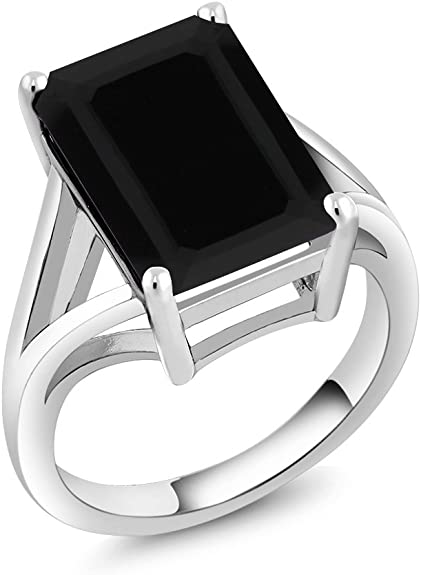 Quality Black Onyx stone Certified Mens Ring Details about  /Solid Sterling Silver Handmade AAA