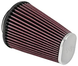 K&N RC-3680 High Performance Universal Clamp-on Chrome Air Filter