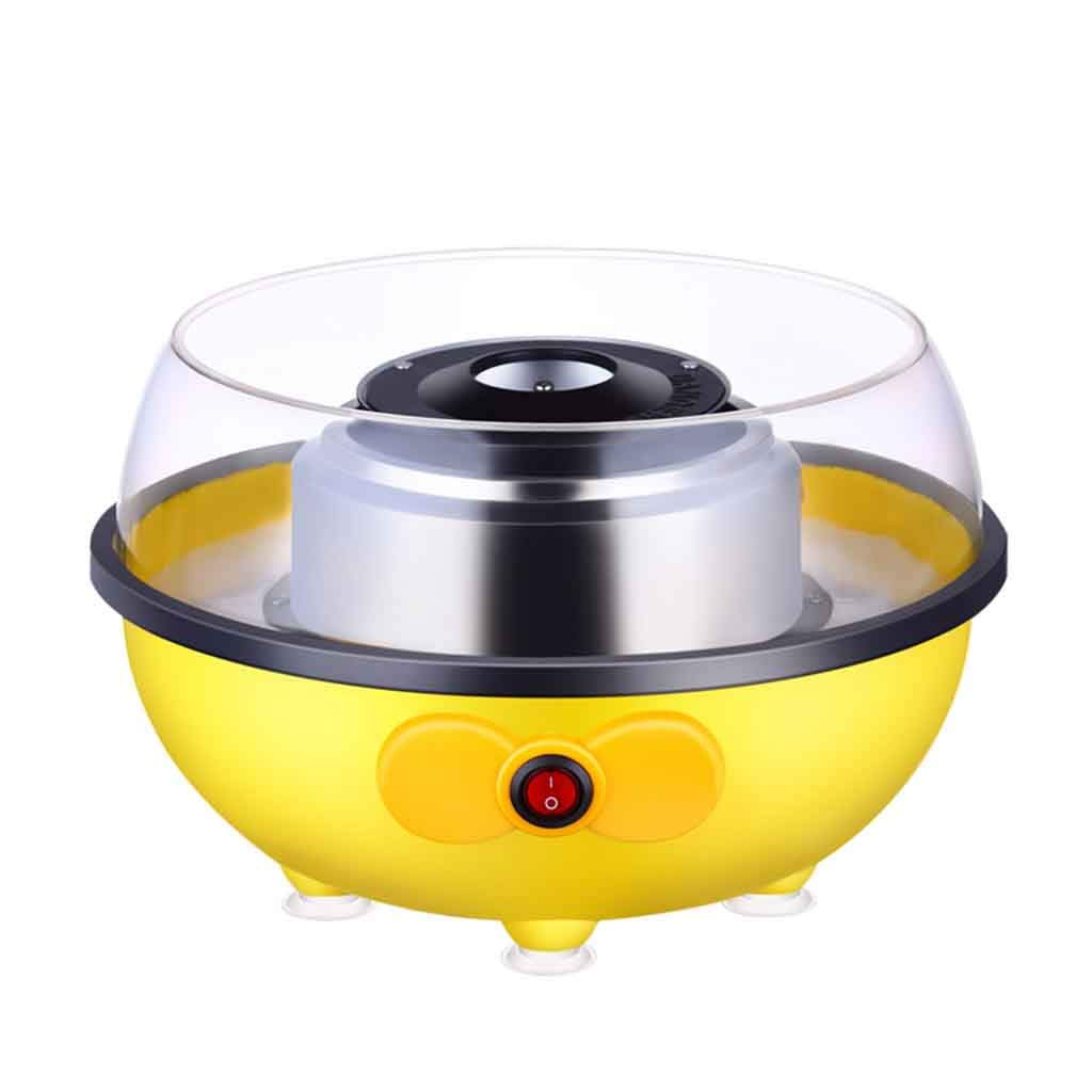 Cotton Candy Machine Mini Portable Electric Homemade Sweets Electric Candy Floss Maker for Birthday Parties or Childern Gift Roscloud@ (Color : Yellow)