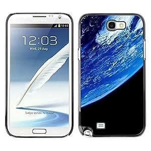 TopCaseStore / la caja del caucho duro de la cubierta de protección de la piel - Planet Earth From Space - Samsung Galaxy Note 2 N7100