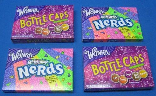 Wonka Bottle Caps & Nerds Theater Box 4 Box by Casey Ann's Candies
