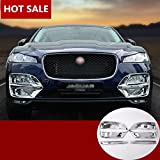 ABS Chrome Front Fog Light Lamp Cover Trim 4pcs For Jaguar F-Pace X761 2016 2017