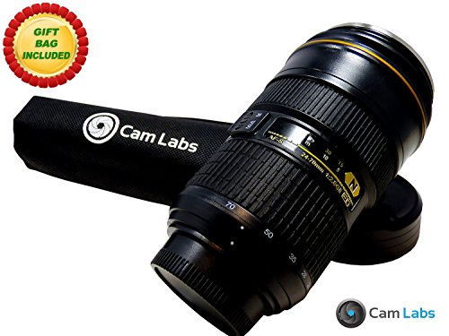 CamLabs Zoomable Camera Lens Mug - Nikon 24-70mm Lens Replica - Twistable Grip Rings for Actual Zoom - Free Gift Bag - Best Gift for Photographers - Insulated Steel Coffee Travel Tumbler - 10oz