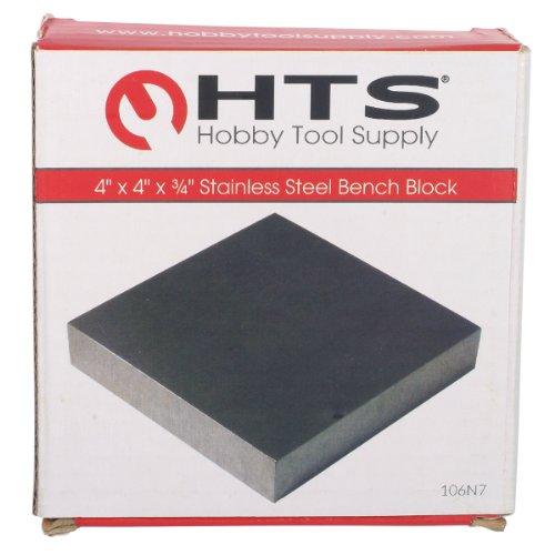 [해외]HTS 106N7 스테인레스 스틸 플랫 보석상의 와이어 경화 용 벤치 블록/HTS 106N7 Stainless Steel Flat Jeweler`s Bench Block for Wire Hardening   Flattening