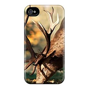 For Iphone 4/4s Protector Case Animals Santa Claus Deer Phone Cover