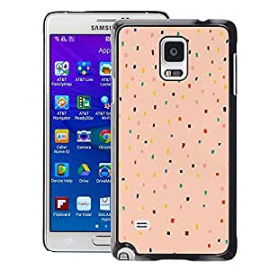 Planetar® ( Peach Pink Color Dot Pattern Teal Red ) Samsung Galaxy Note 4 IV / SM-N910 Fundas Cover Cubre Hard Case Cover