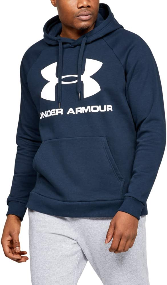 Under Armour Sudadera con Capucha de Tejido Fleece Y Logotipo UA Rival - Sudadera con Capucha Hombre
