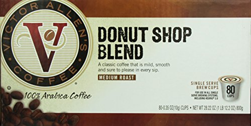 Review Victor Allen Coffee, Donut