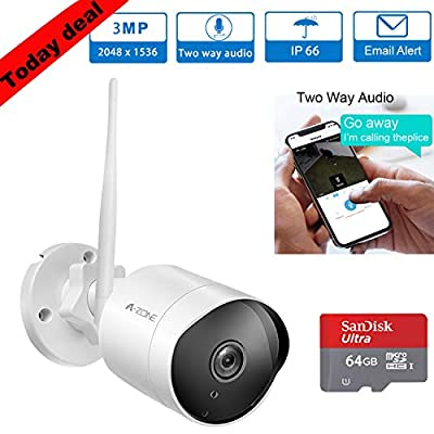 Wireless Outdoor Security Camera - A-ZONE by Tollar
