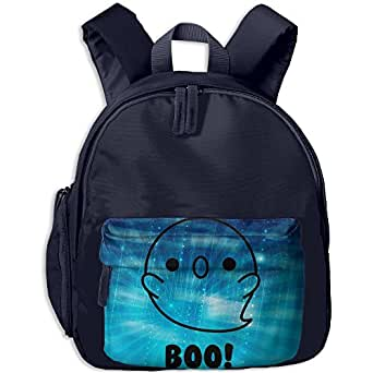 Halloween Ghost Kawaii Doodles Kid's School Bags Adjustable Shoulder Backpack For School And Travel Time