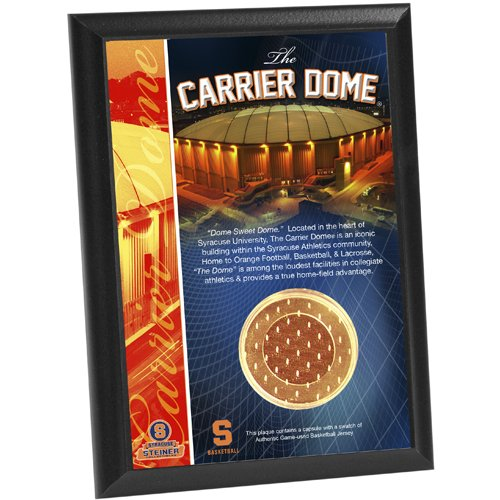 - NCAA Syracuse Carrier Dome Basketball Jersey Capsule 4x6 Plaque