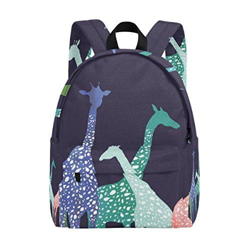 MAPOLO Giraffe Lightweight Travel School Backpack for Women Girls Teens Kids