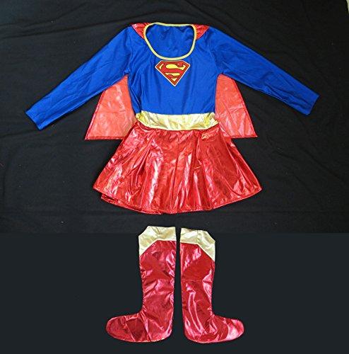 Superwoman Supergirl Woman Halloween Costume (Superwoman Halloween Costumes)