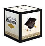 Arts & Crafts : Creative Converting Graduation Card Holder Box Cap and Gown, Black/White/Gold