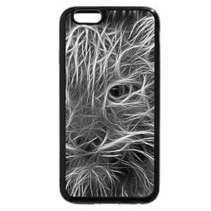 iPhone 6S Plus Case, iPhone 6 Plus Case (Black & White) - Cheetah Glow