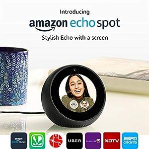 Echo Spot - Stylish echo with a screen (Black)