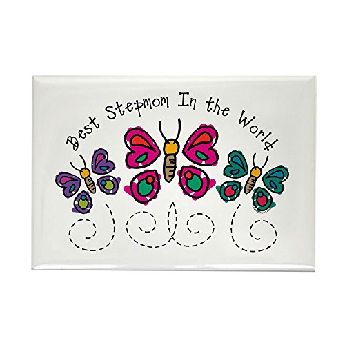 CafePress Butterfly Best Stepmom Rectangle Magnet Rectangle Magnet, 2