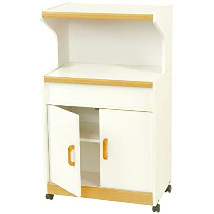 Amazon Com Rolling Microwave Stand With Cabinet And