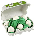 HABA Half Dozen Wooden Eggs in Real Egg Carton Realistic Play Food