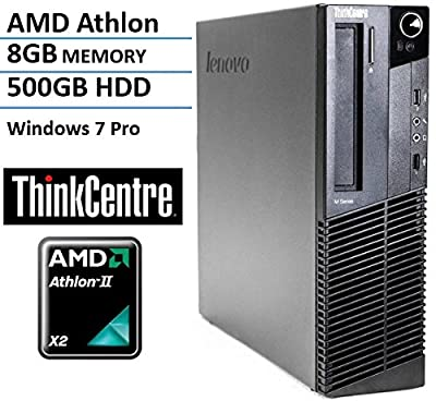 Lenovo ThinkCentre M77 Small Form Factor High Performance Business Desktop Computer (AMD Dual Core Athlon 2.8GHz CPU, 8GB RAM, 500GB HDD, VGA, DVD, Windows 7 Professional) (Certified Refurbished)