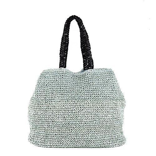 Sac à bandoulière, Leonarda Azur, coton, Dimensions en cm: 53 l x 37 h x 22 p