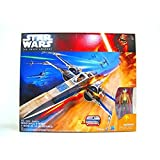 STAR WARS THE FORCE AWAKENS RESISTANCE X-WING FIGHTER BLUE VERSION & POE DAMERON