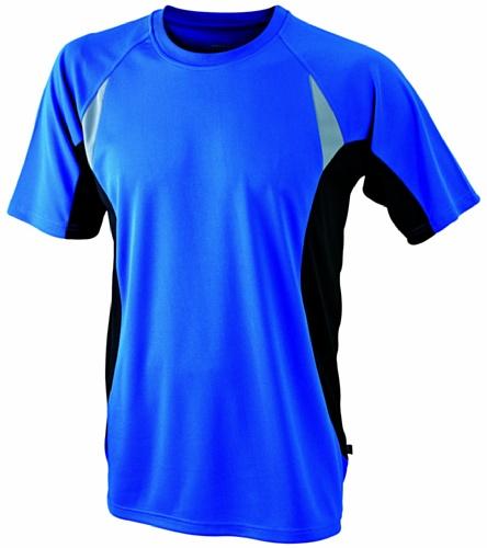James & Nicholson Herren Langarmshirt T-Shirt Running T blau (royal/black) Large