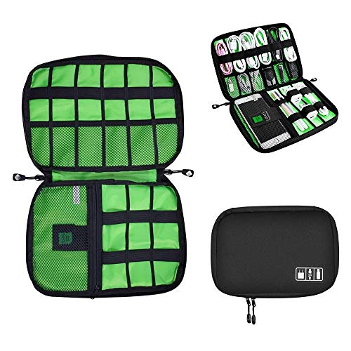 Universal Cable Organizer Bag for Travel and Houseware Storage, YUEMI Small Electronics Accessories Cases for Various USB Cables Earphone Charger Phone
