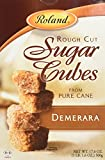 Roland Sugar Cubes, Rough Cut Demerara, 17.6 Ounce (Pack of 6)