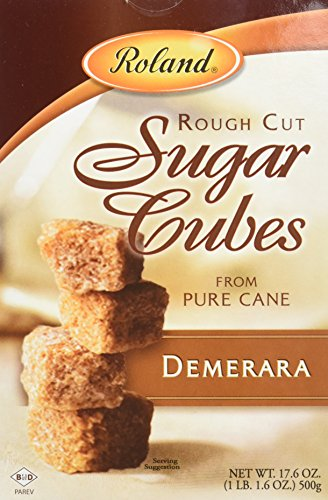 Roland Sugar Cubes, Rough Cut Demerara, 17.6 Ounce (Pack of 6)