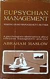 img - for Eupsychian Management: A Journal book / textbook / text book