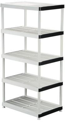HDX 5-Shelf 24 in. D x 36 in. W x 72 in. H Plastic Ventilated Storage Shelving Unit-128974 - The Home Depot